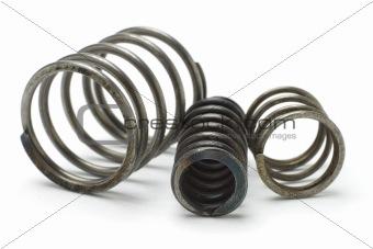 Three metal springs