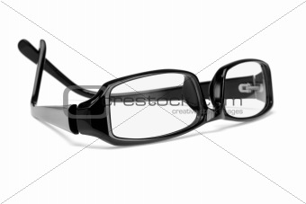 Black plastic frame spectacles
