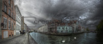 Bruges Citiyscape Panorama