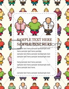 Cartoon Fat people card