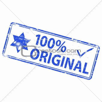 100 Percent Original rubber stamp