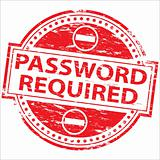 Password Required rubber stamp