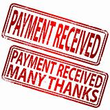 Payment Received rubber stamp