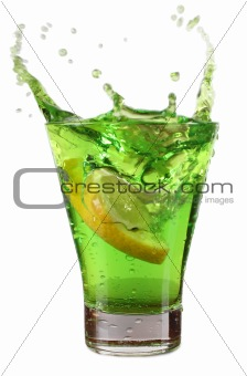 Cup with green cocktail