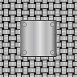 vector metal shield on seamless metal grid  texture