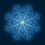 vector highly detailed blue snowflake