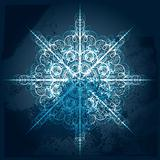 vector highly detailed  grungy snowflake