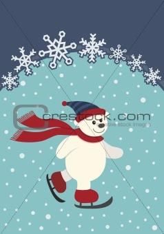 Skating Polar Bear
