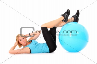 Sit-ups with ball