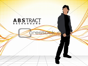 abstract stylish fashion silhouette
