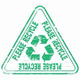 Please Recycle rubber stamp