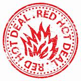 Red Hot Deal rubber stamp