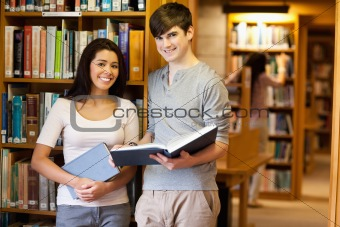 Beautiful students with a book