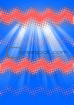 Abstract multicolored tech wave background