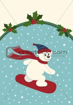 Snowboarding Polar Bear