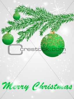 Christmas ball decorate card vector illustration