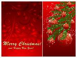 Christmas ball decorate card vector illustration