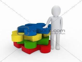 3d man puzzle