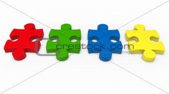 3d puzzle piece