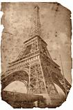 Vintage style Eiffel tower card