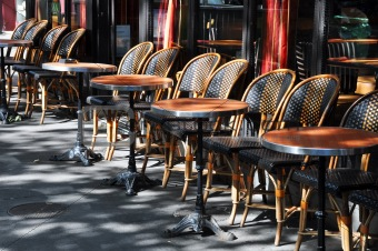 Cafe terrace in Paris
