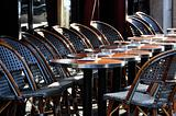 Parisian cafe terrace