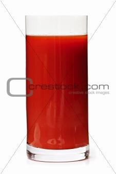 Tomato juice in glass