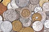 Coins currency from multiple countries