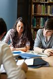 Portrait of students reviewing for the examinations