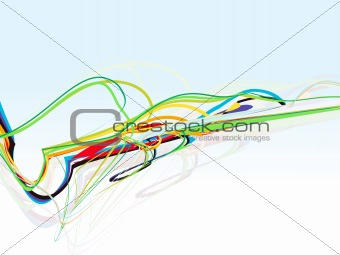 abstract colorful line wave