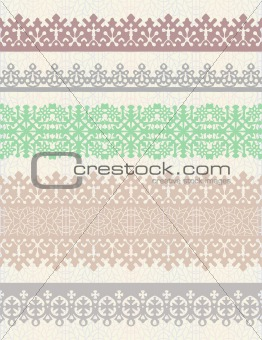 Set of vintage borders.