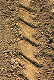 Tread pattern on soil