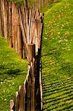 A wood fence