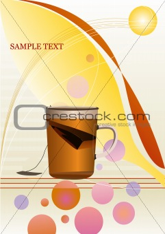 color background with tea
