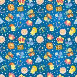 cute zodiac symbols seamless pattern