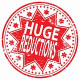 Huge Reductions  rubber stamp