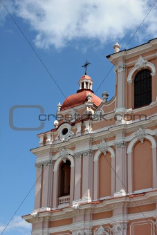 Fragment of Catholic Church in baroque style.