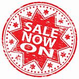 Sale Now On rubber stamp