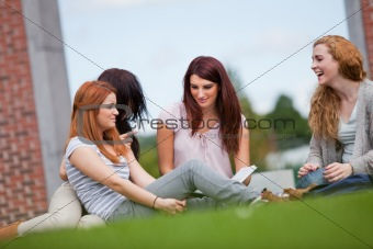 Friends having a good time
