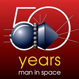 50 years man in Space emblem