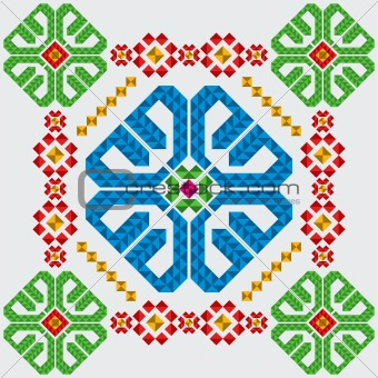 Folded Star Ornament Downloadable Pattern at Everything Quilts
