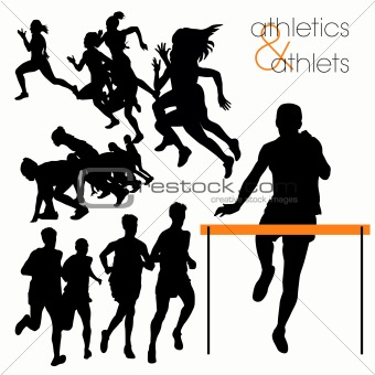 Athletes silhouettes set