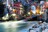 Falling night in Riomaggiore