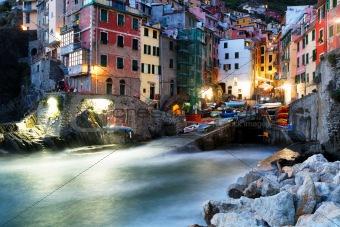Falling night in Riomaggiore