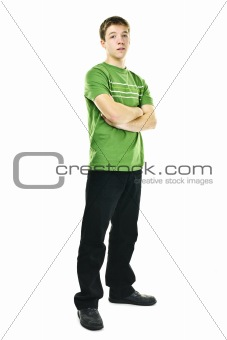 Young man with crossed arms