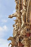 The living facade of Siena Cathedral