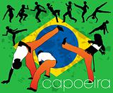 Capoeira silhouettes set