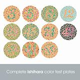 Complete Ishihara color test