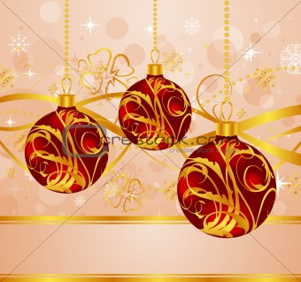 abstract background with Christmas balls
