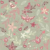 seamless floral romantic wallpaper
